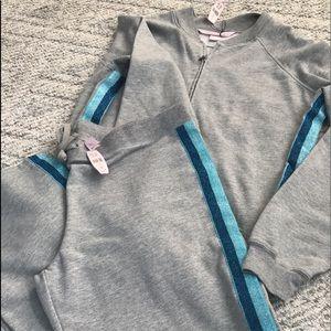 Victoria's Secret 2 piece pj/sweat pant/zipper top
